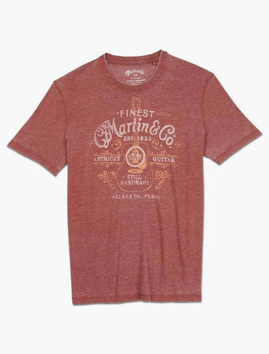 MARTIN SPRING BURNOUT TEE, RUSSET BROWN, productTileDesktop