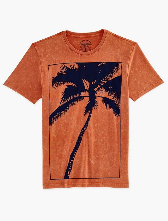 BIG PALM SUGAR MAGIC TEE, JAFFA ORANGE, productTileDesktop