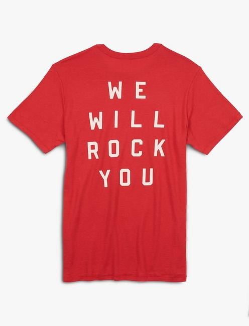 QUEEN ROCK YOU TEE, SCARLET