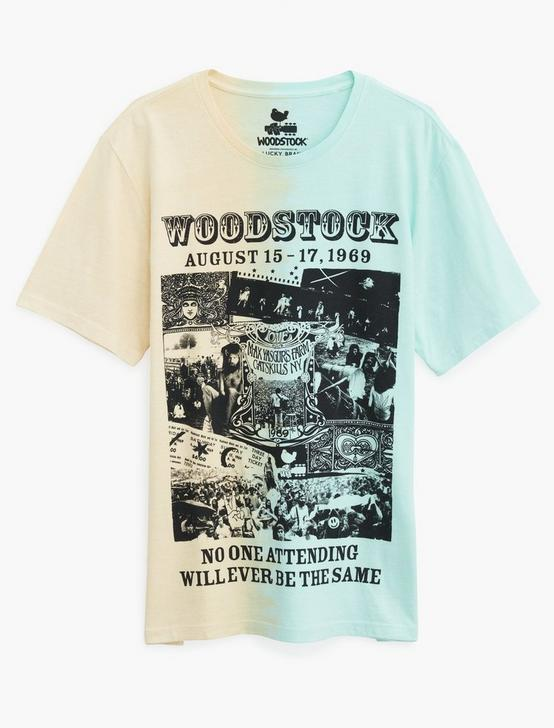 WOODSTOCK TIE DYE TEE, BLUE/YELLOW, productTileDesktop