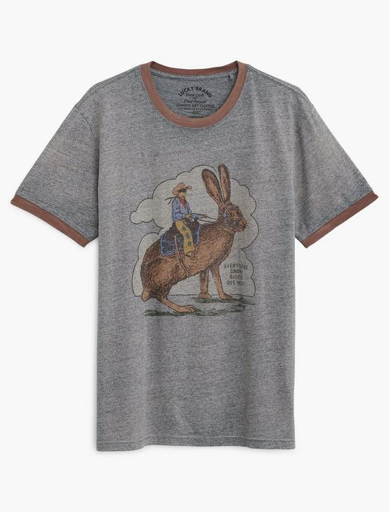 JACKALOPE RABBIT TEE, HEATHER GREY, productTileDesktop