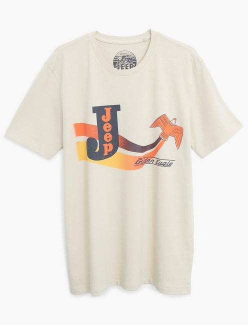 JEEP GOLDEN EAGLE TEE, SILVER BIRCH