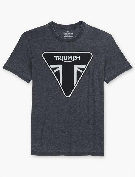 TRIUMPH NEW LOGO TEE, JET BLACK, productTileDesktop