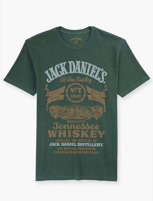 JACK DANIELS GREEN LABEL TEE, DUCK GREEN