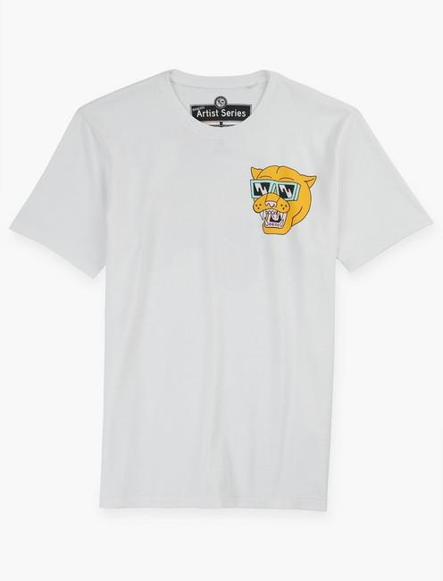Luke Pelletier 4 WHEELER TEE, BRIGHT WHITE