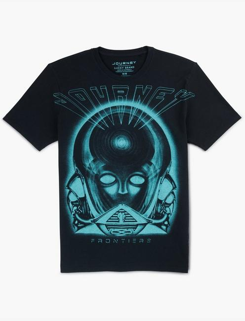 JOURNEY FRONTIERS EXPLODED TEE, JET BLACK