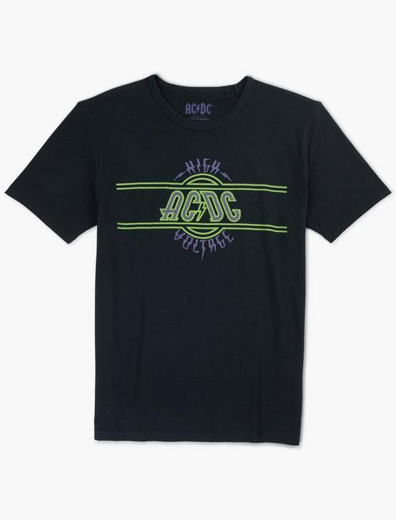 ACDC HIGH VOLTAGE TEE, JET BLACK, productTileDesktop