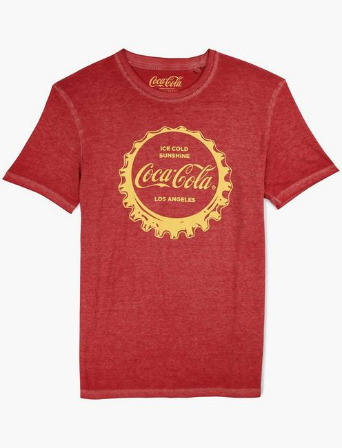 COCA COLA LOS ANGELES TEE, RED DAHLIA