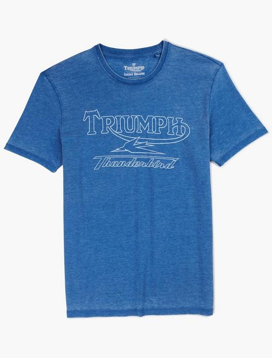 TRIUMPH DESERT THUNDERBIRD TEE, MONACO BLUE, productTileDesktop