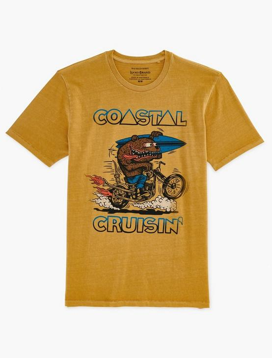COASTAL CRUISIN' BEAR TEE, OCHRE, productTileDesktop