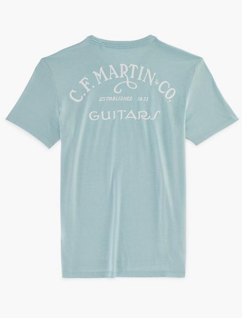 MARTIN GUITAR CIRCLE TEE, SPRING BLUE #4982
