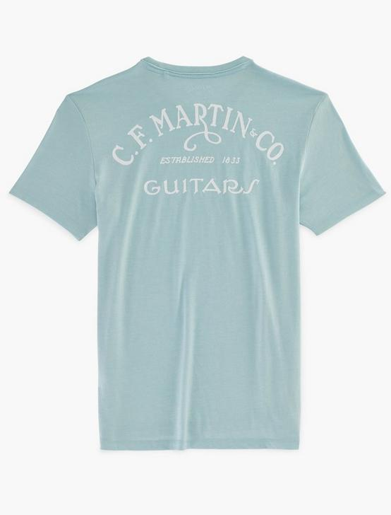 MARTIN GUITAR CIRCLE TEE, SPRING BLUE #4982, productTileDesktop