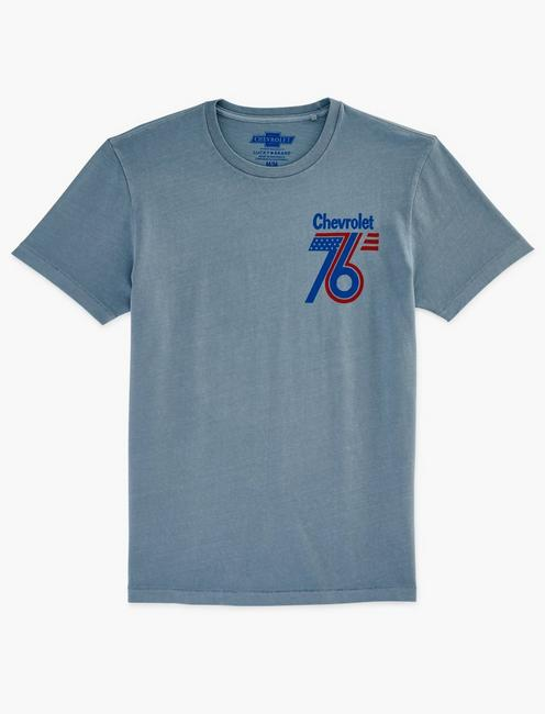 CHEVROLET 76 TEE, DUSTY BLUE