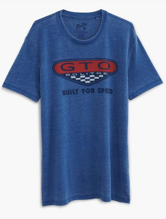 GTO BADGE TEE, MONACO BLUE, productTileDesktop