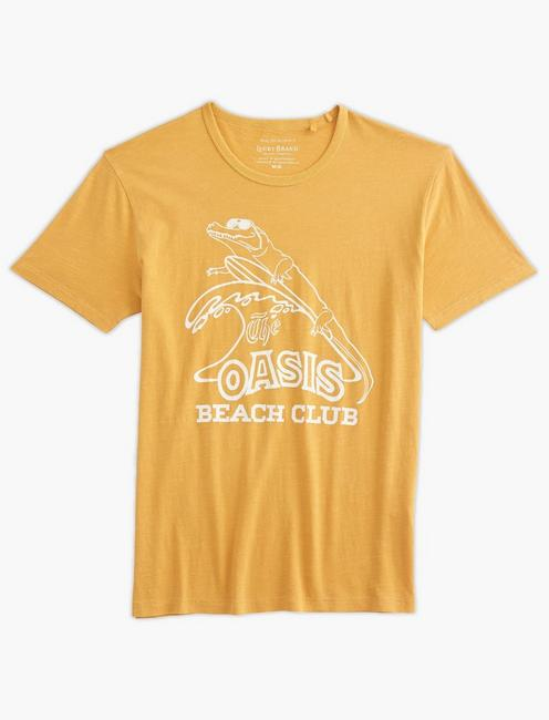 OASIS BEACH CLUB TEE, OCHRE
