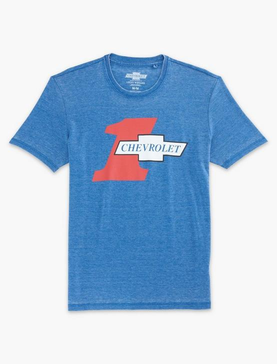 CHEVROLET HEARTBEAT TEE, MONACO BLUE, productTileDesktop