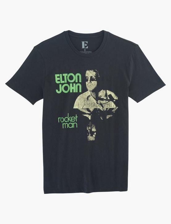 ELTON JOHN POSTER TEE, JET BLACK, productTileDesktop