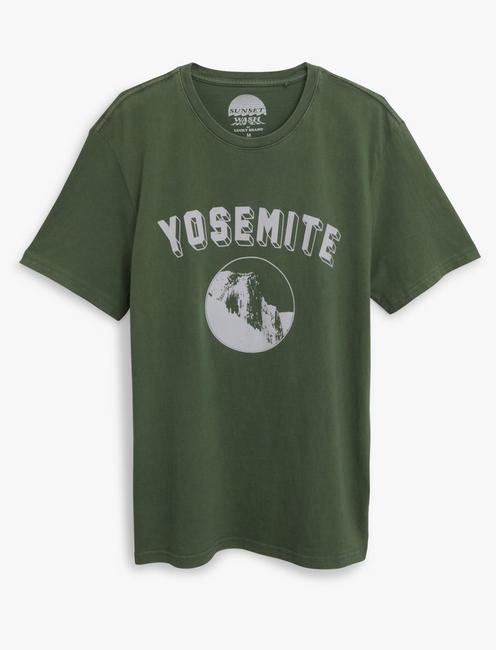 YOSEMITE TEE, ELM GREEN