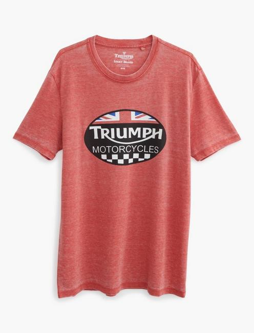 TRIUMPH OVAL TEE, POMPEIAN RED