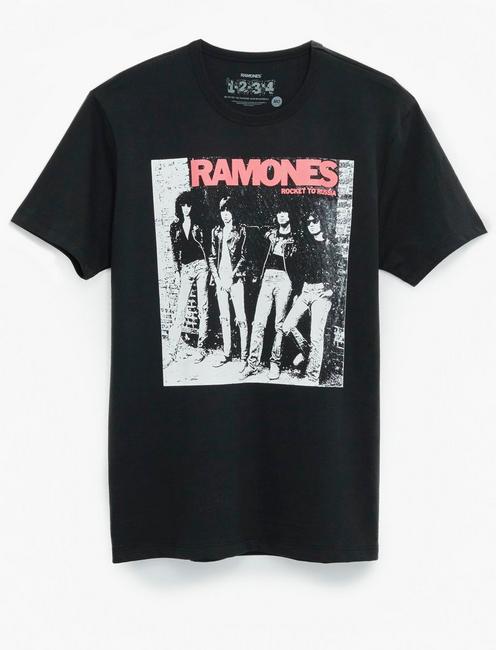RAMONES TEE, JET BLACK