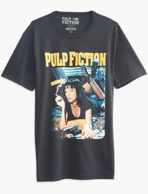 PULP FICTION TEE, JET BLACK