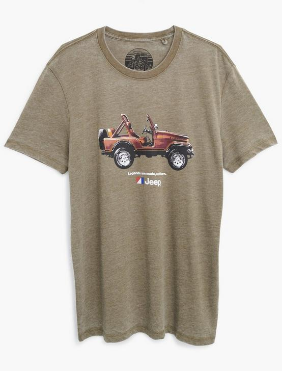 JEEP MADE NOT BORN TEE, DARK OLIVE, productTileDesktop