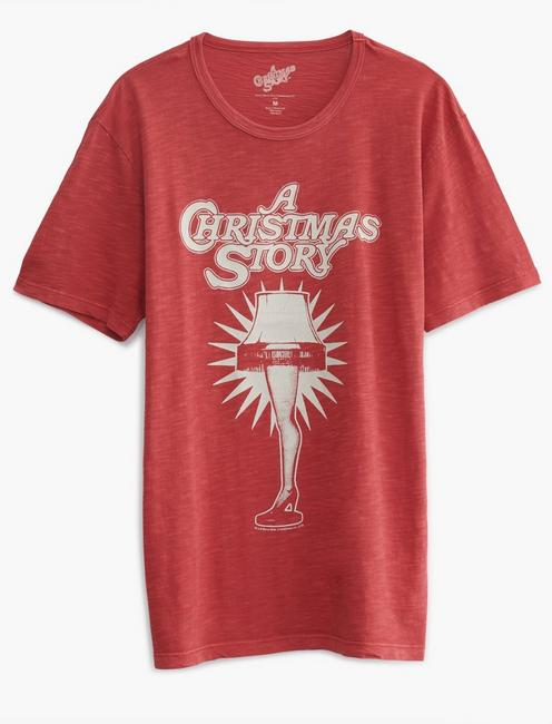CHRISTMAS STORY TEE, 636 RED