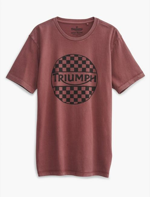 TRIUMPH CHECKERS TEE, 584 OXBLOOD