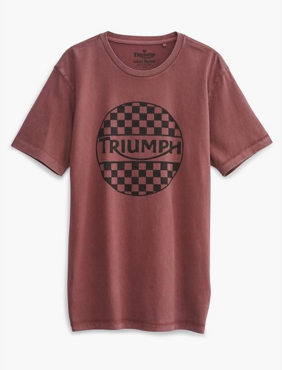 TRIUMPH CHECKERS TEE, 584 OXBLOOD, productTileDesktop
