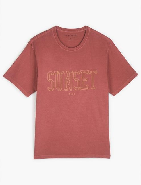 SUNSET BLVD TEE, EARTH RED