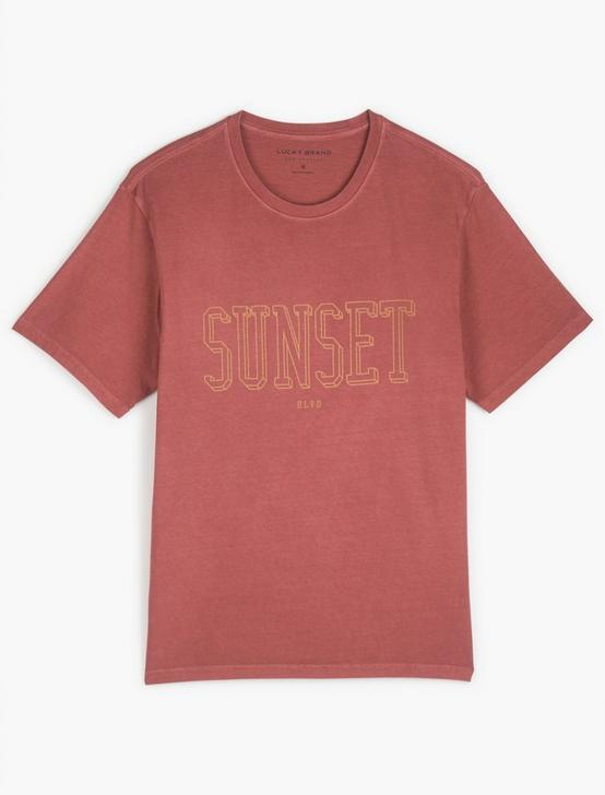 SUNSET BLVD TEE, EARTH RED, productTileDesktop