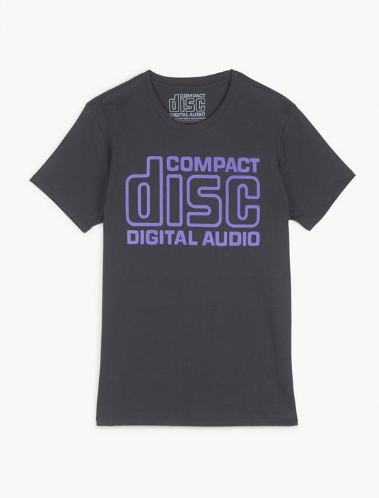 COMPACT DISC DIGITAL AUDIO TEE, RAVEN, productTileDesktop