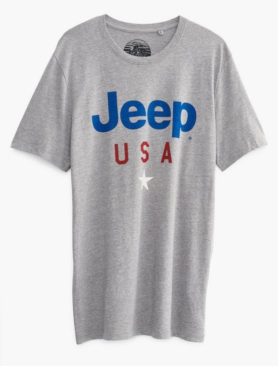 JEEP USA STAR TEE, GREY, productTileDesktop