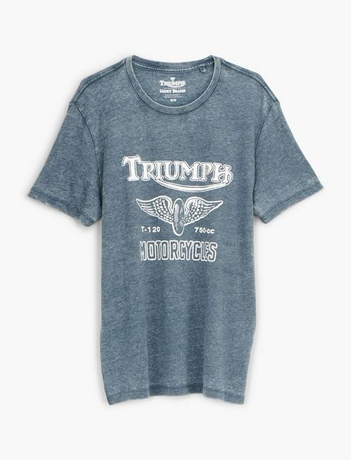 TRIUMPH WING WHEEL TEE, AMERICAN NAVY