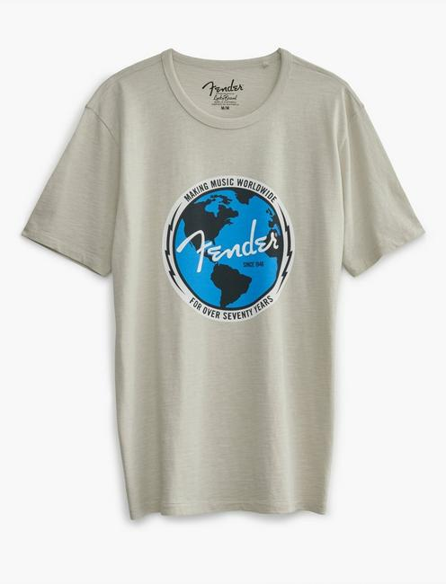 FENDER WORLD TEE, MOONSTRUCK