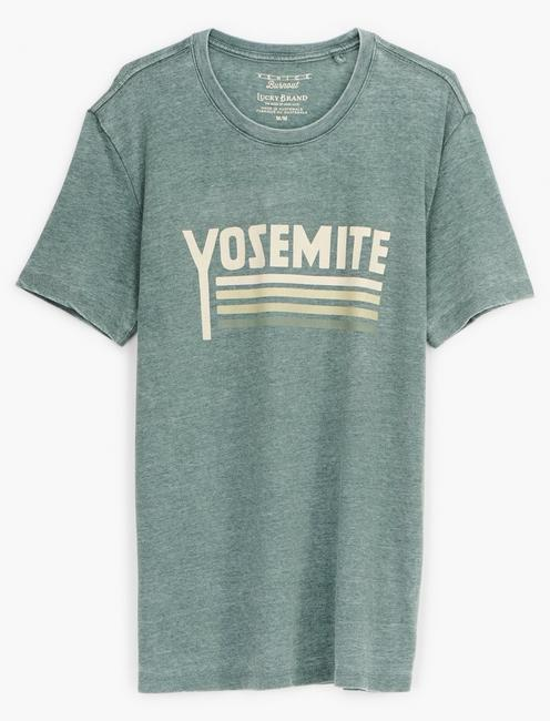 YOSEMITE STRIPES TEE, DARKEST SPRUCE