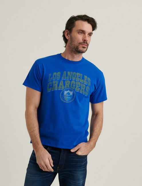 LOS ANGELES CHARGERS TEE, MONACO BLUE