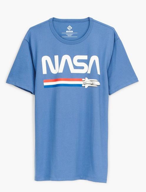 NASA SHUTTLE TEE, MONACO BLUE