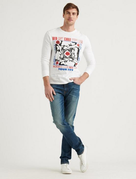 RED HOT CHILI PEPPERS TEE, LUCKY WHITE, productTileDesktop