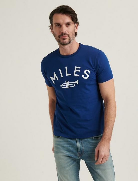 MILES TRUMPET TEE, BLUE DEPTHS, productTileDesktop