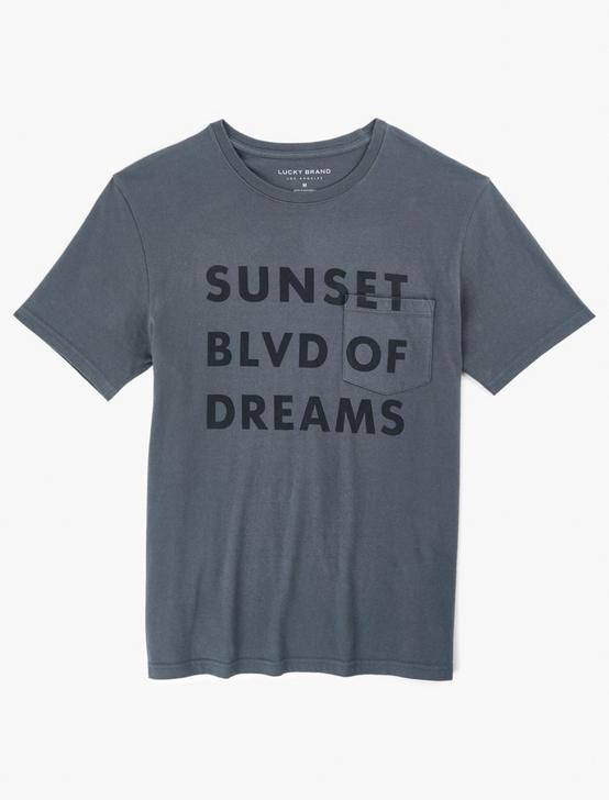 SUNSET BLVD OF DREAMS TEE, DARK SHADOW, productTileDesktop