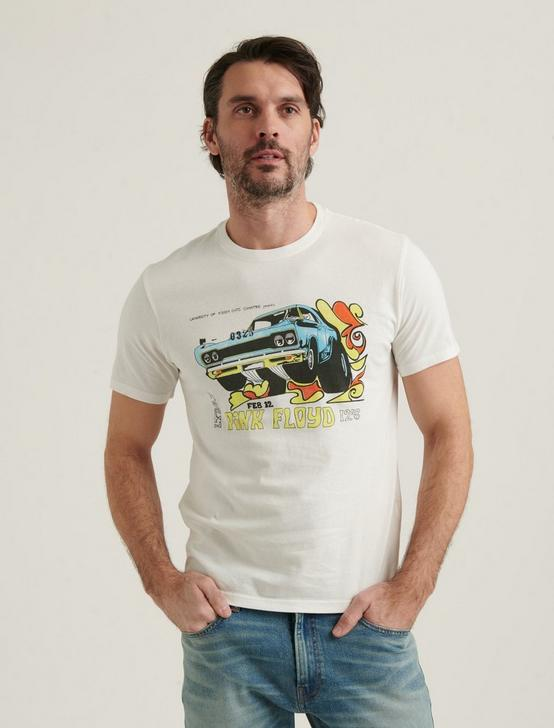 PINK FLOYD CAR TEE, BRIGHT WHITE, productTileDesktop