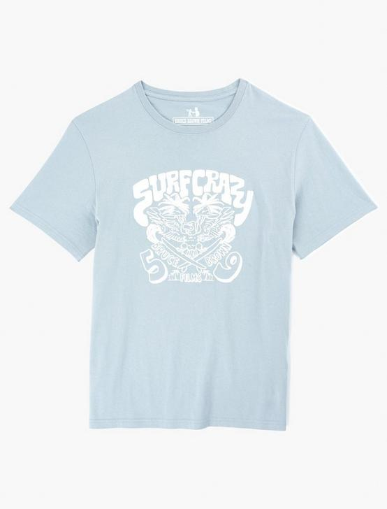 BRUCE BROWN SURF CRAZY TEE, QUARRY, productTileDesktop