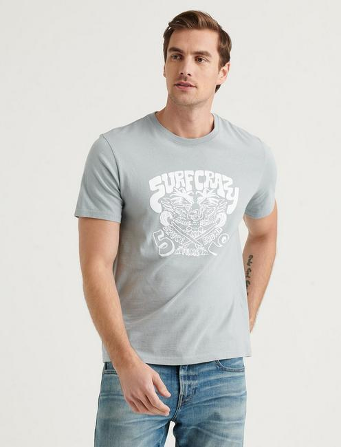BRUCE BROWN SURF CRAZY TEE, QUARRY