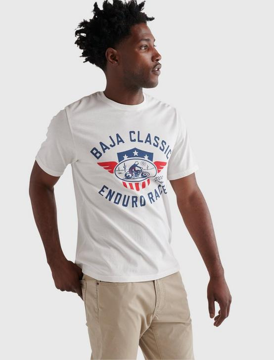 BAJA CLASSIC TEE, BRIGHT WHITE, productTileDesktop