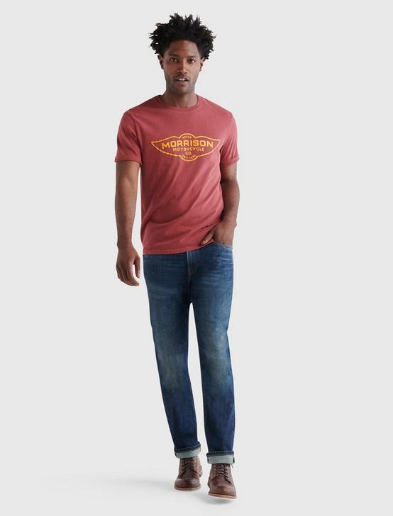 MORRISON MOTORS WING TEE, RUBY WINE, productTileDesktop