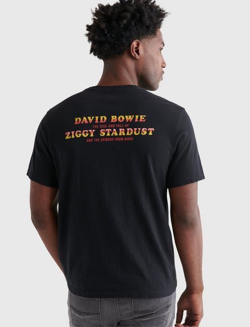 DAVID BOWIE TEE, JET BLACK