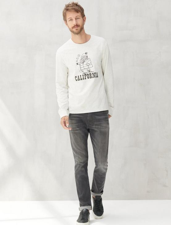 CALIFORNIA BUM TEE, LIGHT HEATHER GREY, productTileDesktop