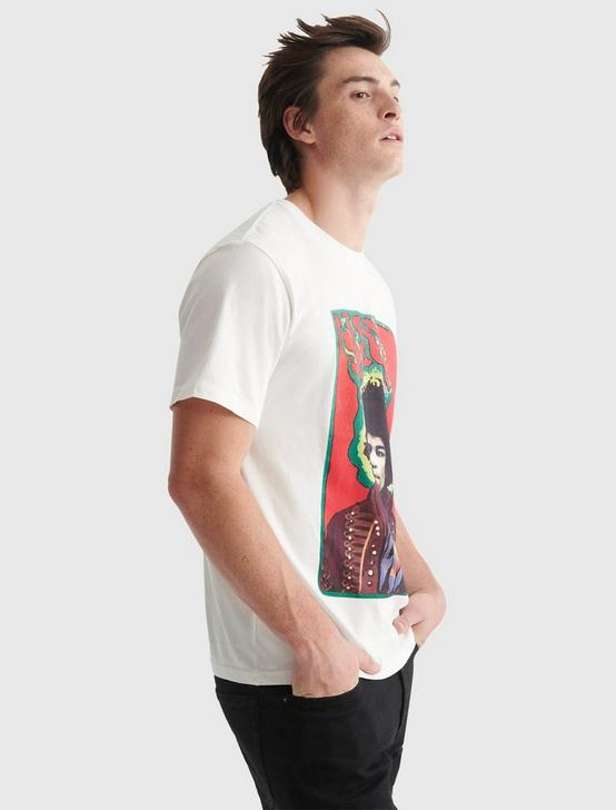 JIMI COLOR POSTER TEE, BRIGHT WHITE, productTileDesktop