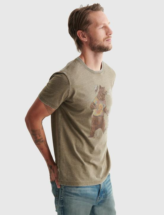 BLAZING BEAR TEE, DARK OLIVE, productTileDesktop